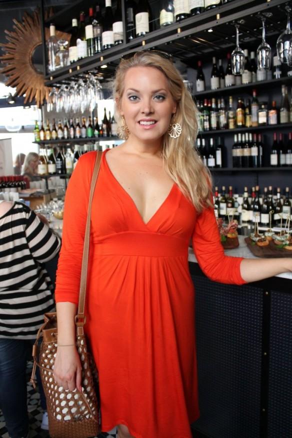 Elin Fagerberg röd klänning